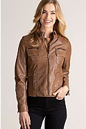 Women's Marie Lambskin Leather Jacket
