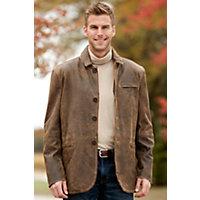 Men's Slade Antique Lambskin Leather Blazer, Brown, Size Medium (40) Western & Country
