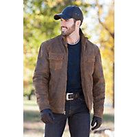 Men's Flint Antique Lambskin Leather Jacket, Brown, Size Xlarge (44) Western & Country