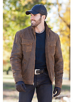 Men's Flint Antique Lambskin Leather Jacket