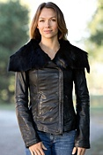 Women's Rialto Lambskin Leather Jacket with Toscana Trim