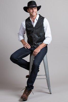 Glenn Waxed Lambskin Leather Vest