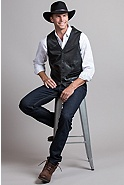Men's Glenn Waxed Lambskin Leather Vest