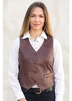 Women's Mandy Waxed Lambskin Leather Vest