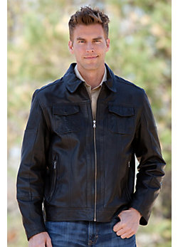 Men's Lane Lambskin Leather Jacket