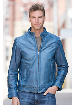 Men's Helm Lambskin Leather Jacket