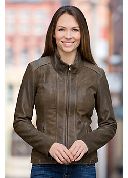 Women's Lena Antique Lambskin Leather Jacket