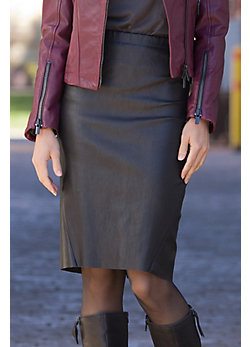 Women's Ava Lambskin Leather Skirt