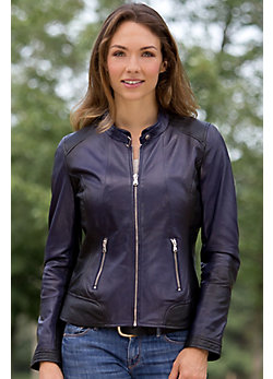 Alice Lambskin Leather Biker Jacket