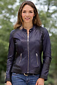 Women's Alice Lambskin Leather Biker Jacket