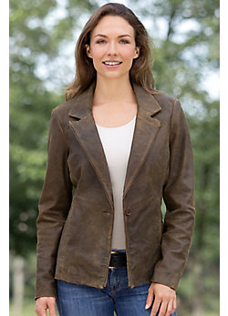 Caitlyn Antique Lambskin Leather Blazer