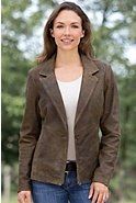 Women's Caitlyn Antique Lambskin Leather Blazer