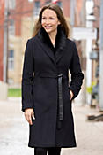 Alina Cashmere-Blend Wool Coat with Detachable Toscana Collar