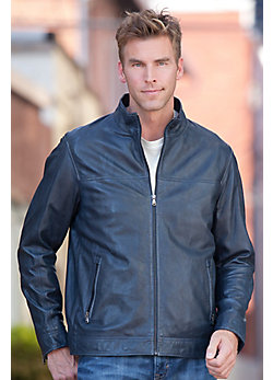 Truman Lambskin Leather Bomber Jacket