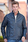 Men's Truman Lambskin Leather Bomber Jacket
