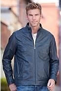 Truman Lambskin Leather Bomber Jacket