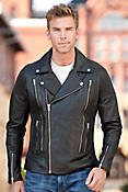 Pipeline Lambskin Leather Biker Jacket