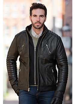 Men's Barton Loaded Chopper Lambskin Leather Jacket