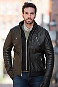 Barton Loaded Chopper Lambskin Leather Jacket