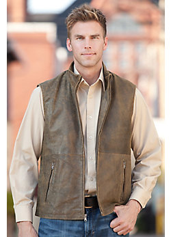 Men's Frasier Lambskin Leather Vest