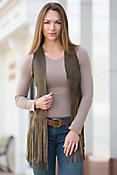 Women's Sonia Fringed Lambskin Leather Vest