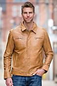 Louis Lambskin Leather Jacket