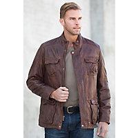 Mason Middle Eastern Lambskin Leather Jacket, COGNAC, Size LARGE (42)