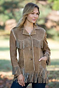 Women's Woodstock Fringe Lamb Suede Jacket