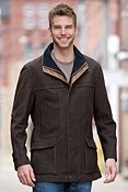 Men's Richmond Lambskin Leather Field Coat