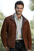 Men's Barcelona Sueded Lambskin Leather Jacket