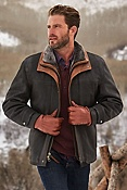 Men's Jack Frost Leather Coat with Shearling Lining
