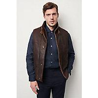 Men's Traveler Leather Vest (Big), Dark Brown, Size 48 Western & Country