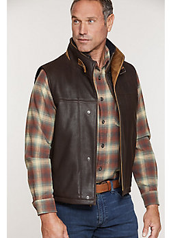 Men's Traveler Leather Vest (Big)