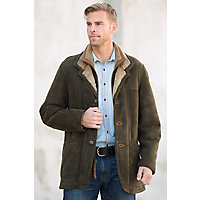 Men's Overland Highlands Shearling Sheepskin Coat, FOREST, Size 40