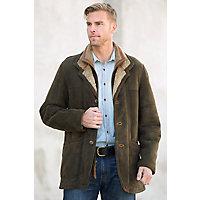 Men's Overland Highlands Shearling Sheepskin Coat, Forest, Size 38 Western & Country