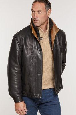 Romano Lambskin Leather Jacket (Tall)