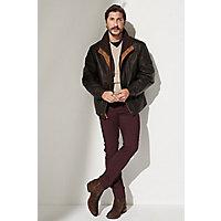 Men's Romano Lambskin Leather Jacket (Tall), Black, Size 44 Long Western & Country