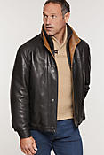 Men's Romano Lambskin Leather Jacket (Tall)