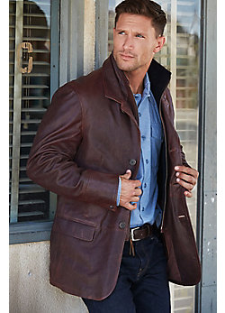 Men's Montreaux Moroccan Lambskin Leather Blazer
