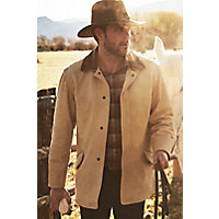 Men's Country Gentleman Calfskin Leather Coat, Palomino / Check, Size 44 Western & Country
