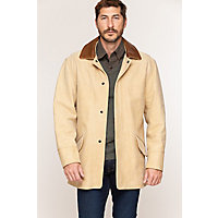 Men's Country Gentleman Calfskin Leather Coat (Big), Palomino / Check, Size 52 Western & Country