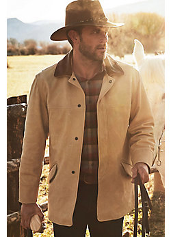 Men's Country Gentleman Calfskin Leather Coat (Big)