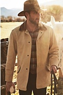 Country Gentleman Calfskin Leather Coat (Big)