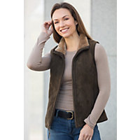 Women's Michelle Shearling Sheepskin Vest, Forest, Size Large (12-14) Western & Country