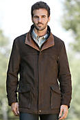 Men's Richmond Lambskin Leather Field Coat (Tall)