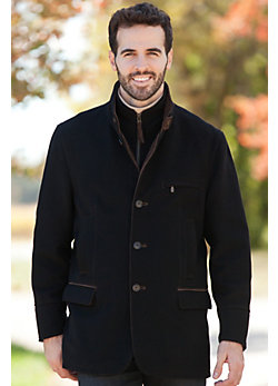 Men's Albatros Cashmere-Blend Wool Jacket (Big/Tall)