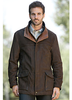 Men's Richmond Lambskin Leather Field Coat (Big)