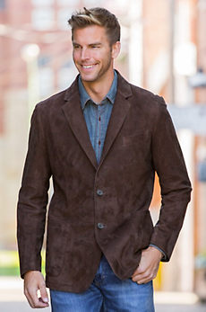 Hardwick Lambskin Suede Leather Blazer