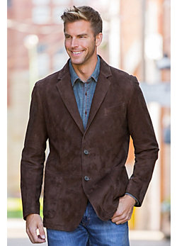 Hardwick Sueded Lambskin Leather Blazer