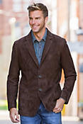 Hardwick Lambskin Suede Leather Blazer